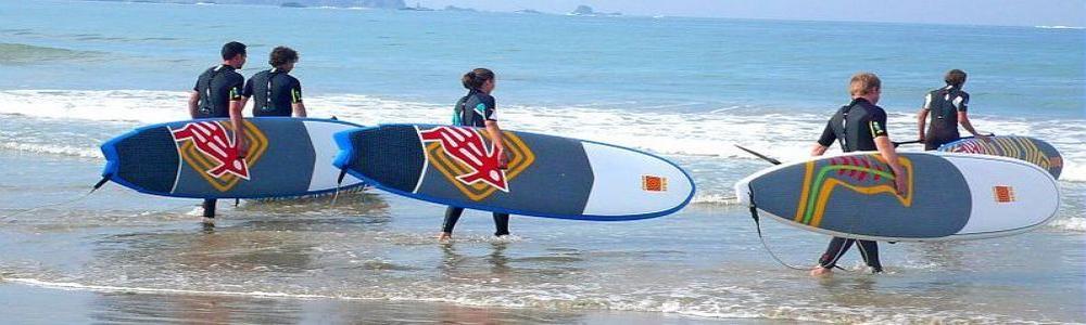 surf sur la baie de la baule